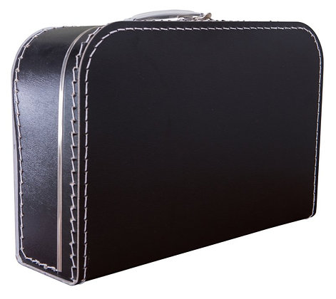 Koffertje met naam 35 cm - ZWART