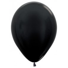 Ballon metallic - ZWART - 30cm