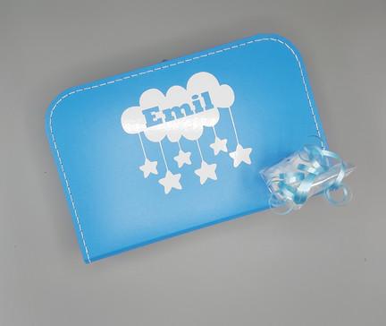 Koffertje blauw 35cm