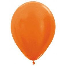 Ballon metallic - ORANJE - 30cm