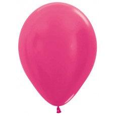 Ballon metallic - FUSCHIA - 30cm