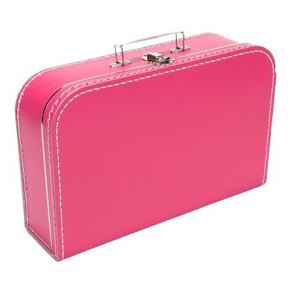 Koffertje met naam 35 cm - FUCHSIAROZE