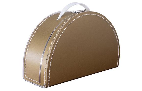 Koffertje halfrond - goud (incl. bedrukking)
