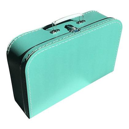 Koffertje met naam 35 cm - TURQUOISE