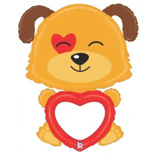 Folieballon puppy personaliseerbaar - 122cm
