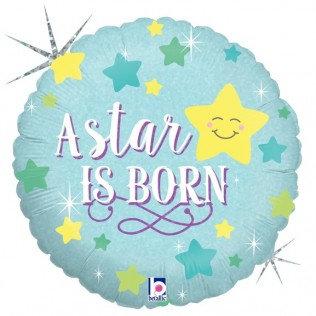 Folieballon A star is born - jongen - 46 cm