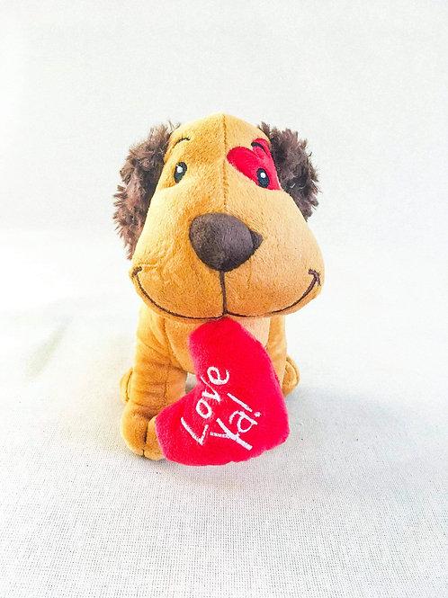 Puppy valentine plush