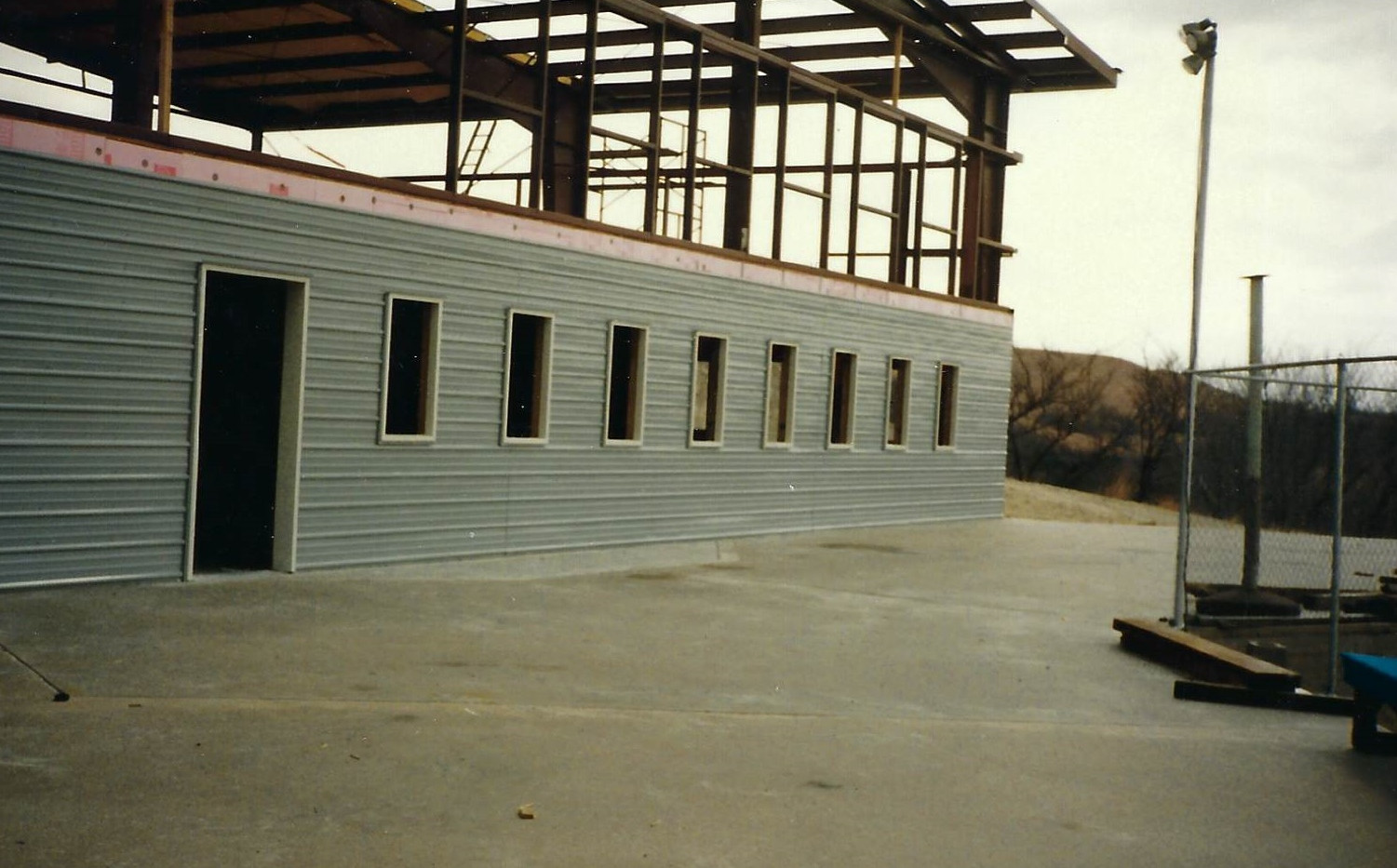 Construction - Backside of the Lodge