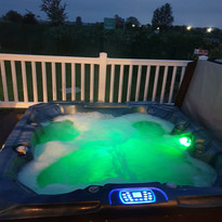 A late night dip, lodge 46