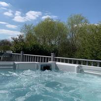 Hot tub at lodge 29