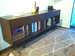 Entertainment Unit and Moroccan Rug