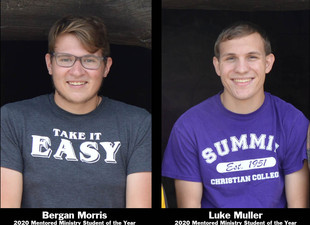 AWARDS WEEK - Morris, Muller named Mentored Ministry Students of the Year