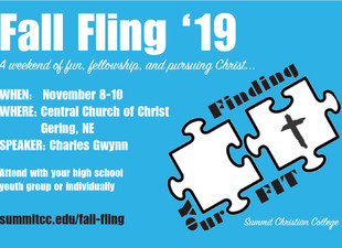 Register Now for Fall Fling Nov. 8-10
