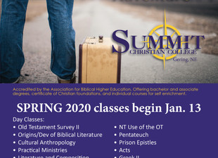 Register NOW for Spring '20!