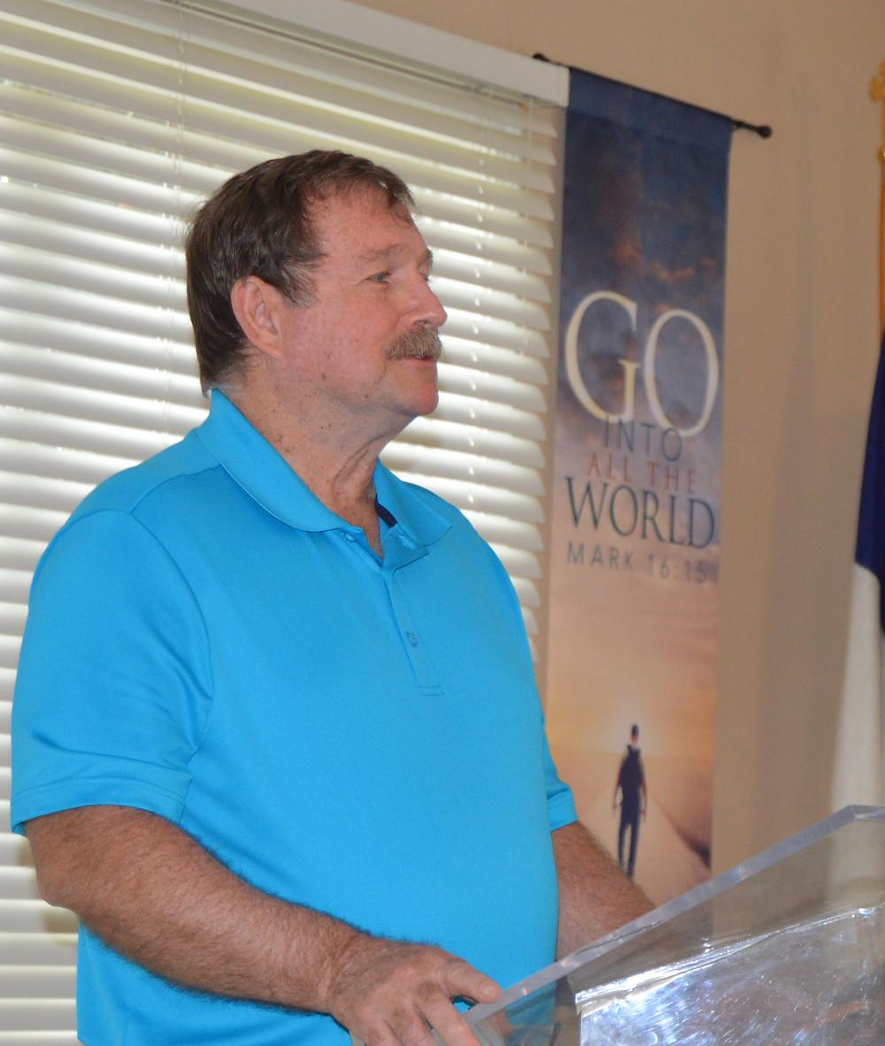 David Parrish, speaking in Chapel