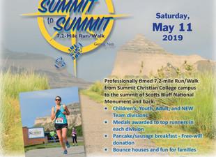 Summit to Summit Run/Walk is May 11