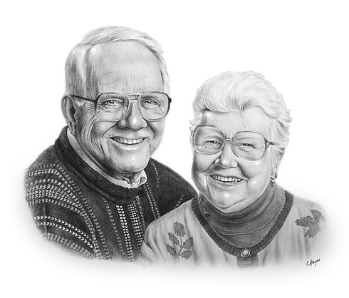 drawing of grandparents