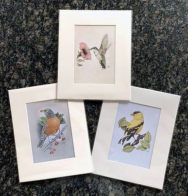 3 bird prints – Mother's Day