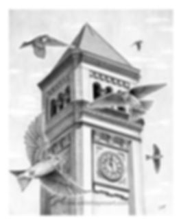 Spokane Riverfront Park Clock Tower drawing