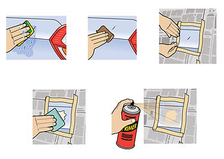 Fixing a scratch on a car how-to illustration