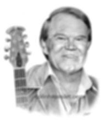Glen Campbell pencil portrait
