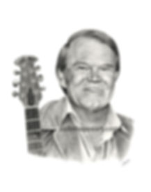 Pencil drawing Glen Campbell