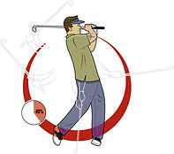 golf swing tips illustration