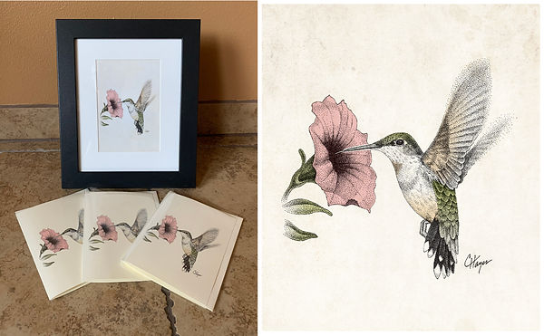 Hummingbird_print and cards special_FBad
