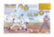 Women's softball infographic illustration