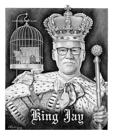 King Jay Inslee portrait