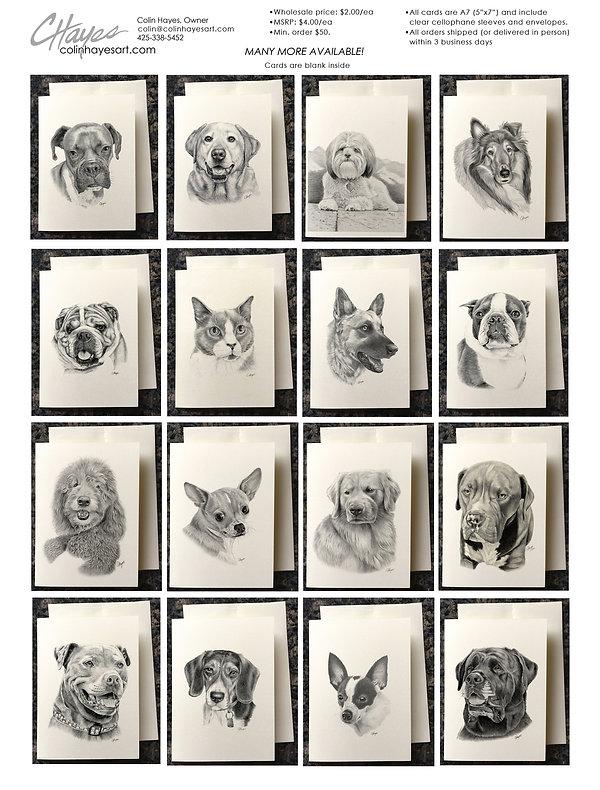 Pet greeting cards