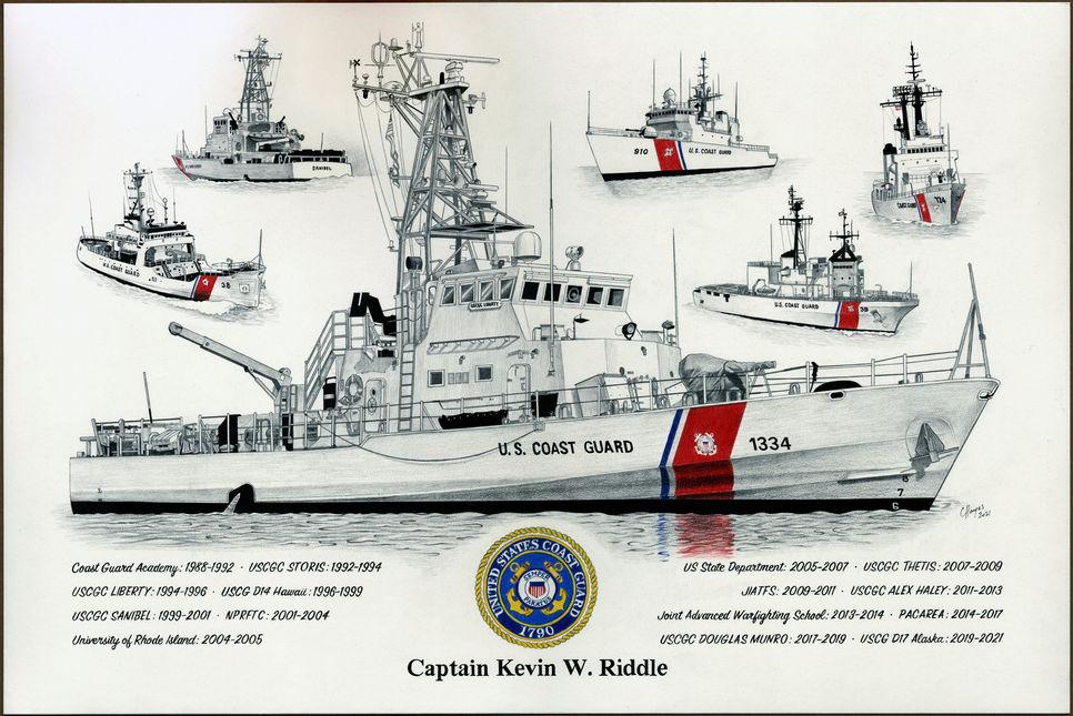 Coast Guard Retirement gift for Kevin Ri