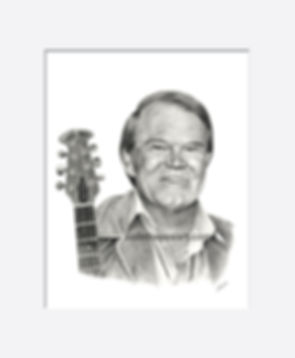 Pencil portrait of Glen Campbell