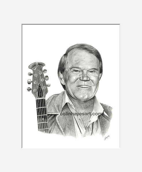 Pencil portrait of Glen Campbell