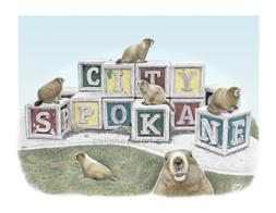 Spokane Blocks with Marmots