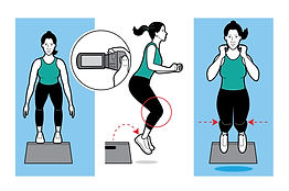 ACL test exercise box jumps illustration