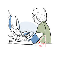 blood pressure testing medical illustration
