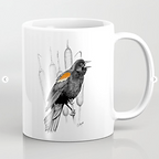 Red-winged blackbird mug