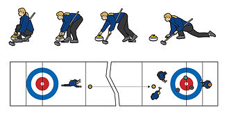 Winter Olympics Curling how-to illustration