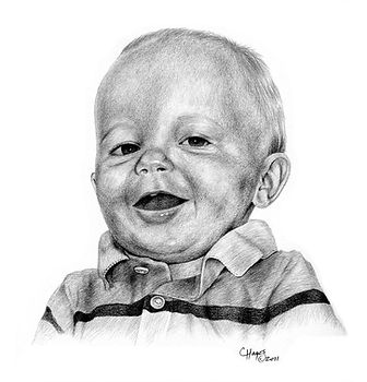 pencil portrait of a young boy
