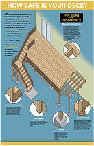 Deck safety infographic illustratio