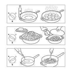 Cooking tips how-to illustration