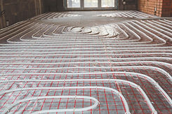 Heating posed in a under construction bu