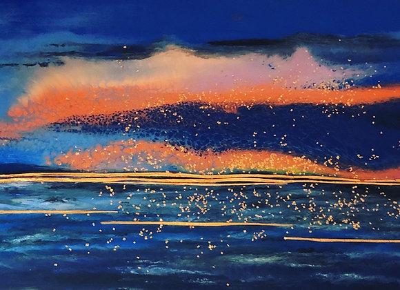 Ocean with Golden Wishes