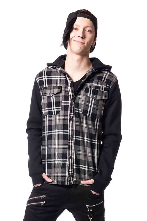"""Quinn"" Black & Grey Jacket"