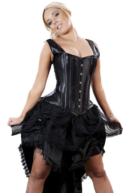 """Suzanna"" Black Taffeta Skirt"
