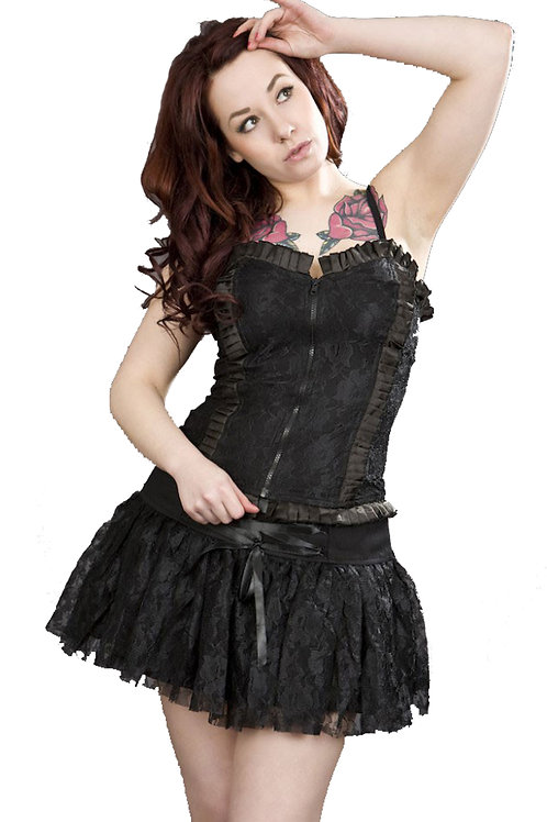 """""""Viva"""" Black Lace Mini Skirt"""