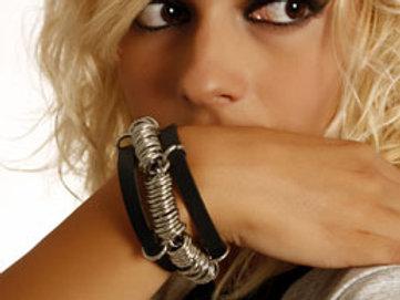 """""""Rings"""" leather bracelet"""