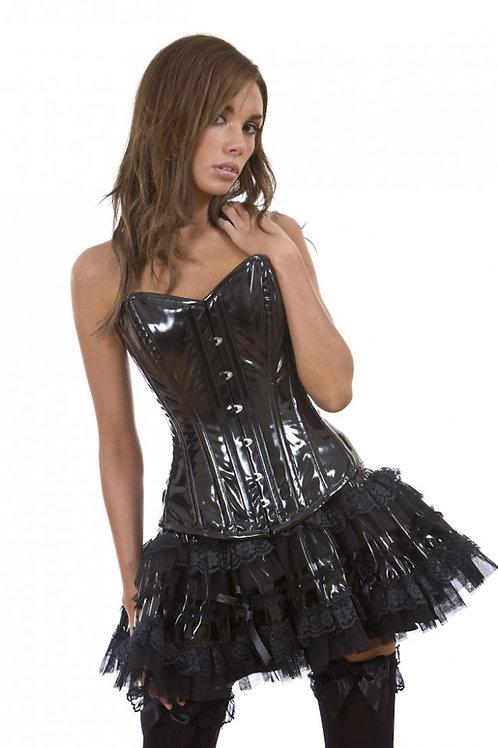"""""""Lolita PVC"""" Black PVC Mini Skirt"""