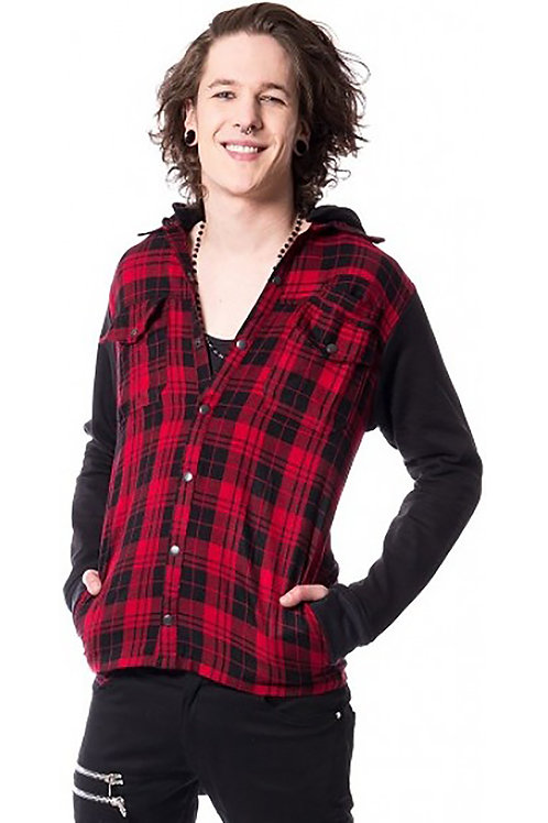 """Quinn"" Black & Red Jacket"